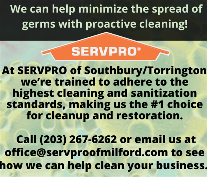 Text describing SERVPRO'S coronavirus cleanup services